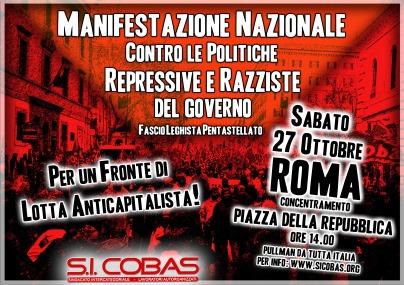 manifestazione roma 1