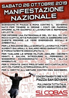 2019-10 MANIFESTAZIONE ROMA